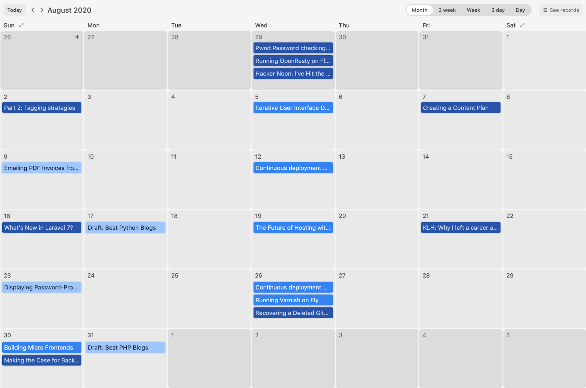 Creating a Multi-Author Publishing Calendar in Airtable